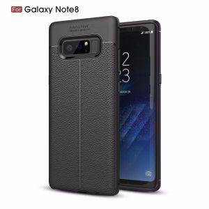 Samsung Galaxy Note 8 Deluxe Case Shockproof Soft TPU Material phone Cover - Black