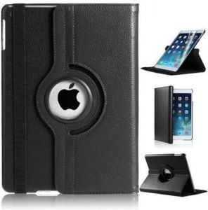 Excellent Nice PU Leather 360 Degree Rotating Flip Case Stand Cover for iPad Mini 2 3 4 Black