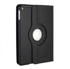Awesome Perfect PU Leather 360 Degree Rotating Flip Case Stand Cover for iPad Mini 2 3 4 Black (Awd)
