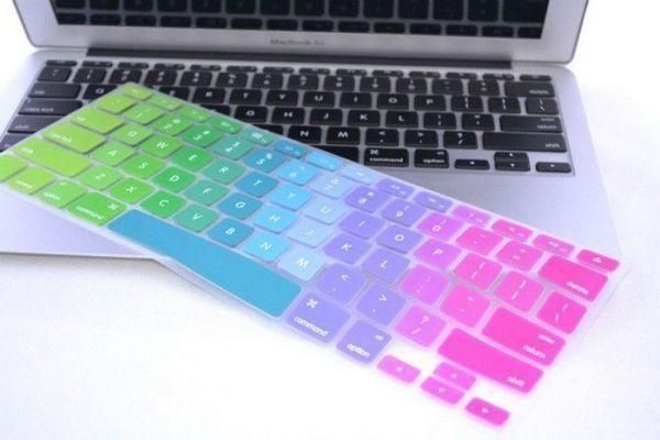 more photos 595f4 aa2cc Multi Color Rainbow Series Silicone Keyboard Cover Skin Macbook Air 13 Inch  Macbook Pro 13.3 15 17 Inch (awd)