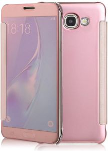 Smart Clear Mirror Case Cover Compatible with Samsung Galaxy A5 (2017) A520F, Pink