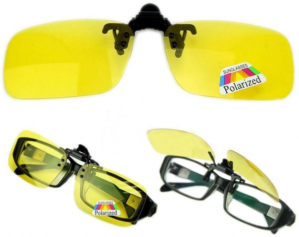 52a8243e7dd HD Night Vision Unisex Driving Sunglasses Men Women Over Wrap Around Glasses  Yellow Medium size