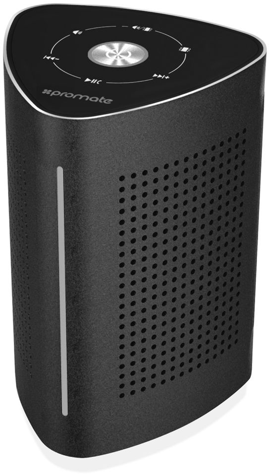 Promate Wireless Speaker, High-Quality 36W Bluetooth Speaker Surface Vibration Sound with Touch Control System, 3.5mm Audio Jack and Built-In Microphone for Smartphones, Tablets, Karaoke, Laptops, Pcs, Cyclone Black