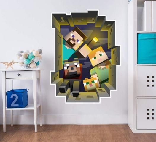 wall sticker minecraft 3d | souq - uae