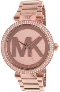 e26f311c0cf5 Michael Kors Parker Women s Rose Gold Dial Stainless Steel Band Watch -  MK5865