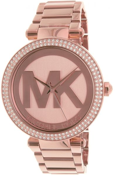 14c871a2824 Michael Kors Parker Women s Rose Gold Dial Stainless Steel Band Watch -  MK5865