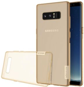Galaxy Note 8 Case, Nillkin Soft TPU Ultra Slim Thin Lightweight Transparent Cover Case for Samsung Galaxy Note 8 - Gold