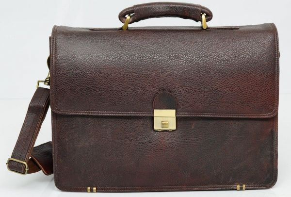 e461de49eaab Bag Jack - Andromedae stylish holdall with a striking masculine look brown  color leather laptop bag