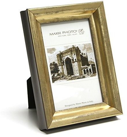 Maxxi Designs Romanza Frame 4 X 6 Antique Gold 5 X 7 Gold