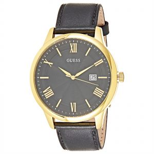 Guess Horizon Watch for Men - Analog, Leather Strap ...