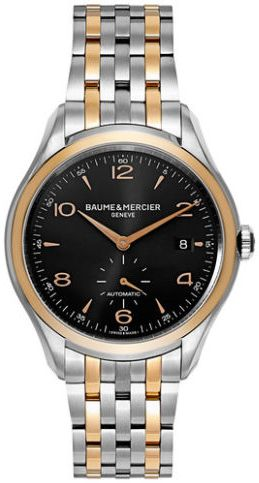 Baume and Mercier Clifton Men's Black Dial Stainless Steel Band Watch - MOA10210