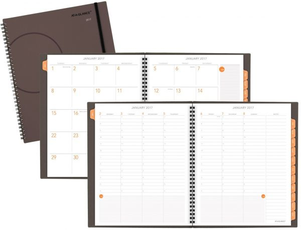 At A Glance Monthly Planning Notebook Planner 2017 8 3 4 X 11