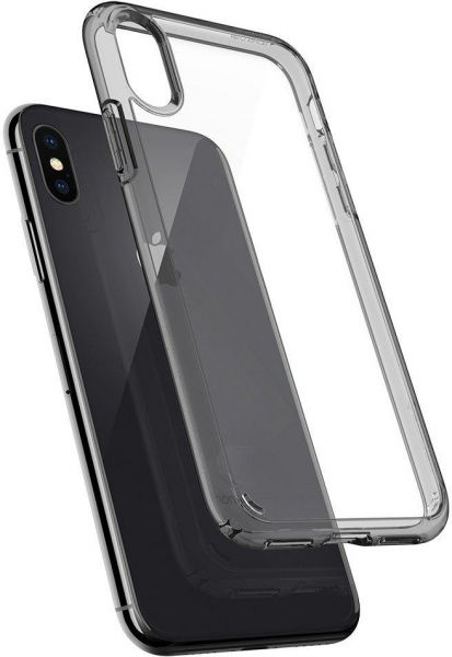 info for 3a459 dcec0 iPhone X Case , Spigen Ultra Hybrid with Air Cushion Technology Space  Crystal