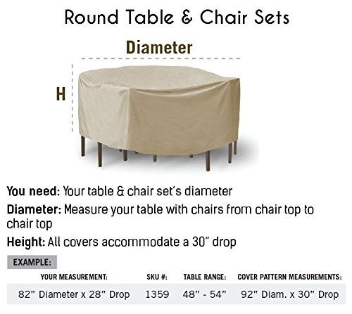 Buy Protective Covers Weatherproof Patio Table And Highback Chair