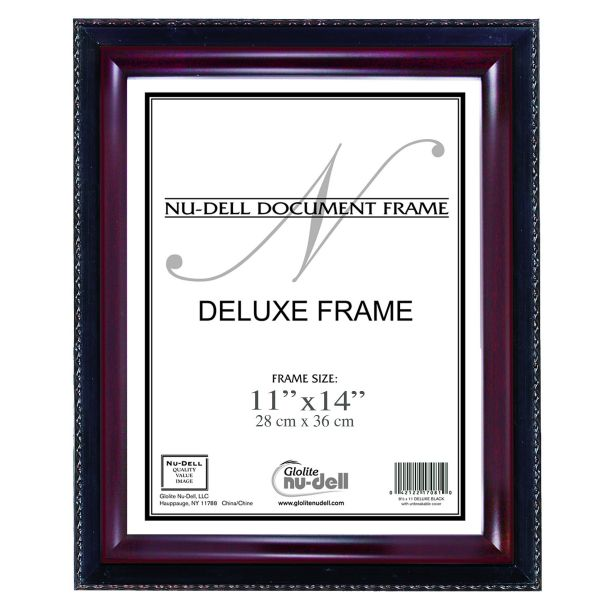 Nu Dell 8 X 10 Inches Executive Document Certificate Frame 11 Inch X