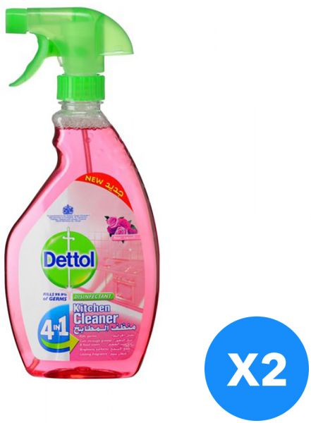 cdc01b9e17ab Dettol Healthy Kitchen Power Cleaner Rose Trigger Spray Set Of 2 ...