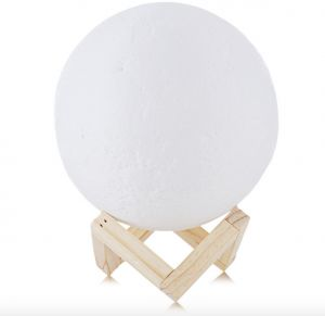 1ae7b186f0276 Christmas presents 3D printing moon light moon lamp decoration Charge the  bedside lamp