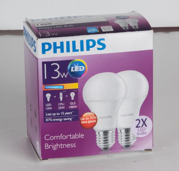 e4695b65edd Philips LED Bulb 13-100W E27 Cool Daylight – 2 Pack