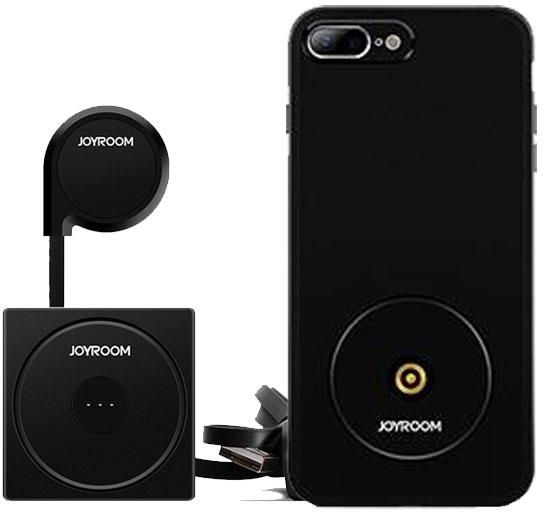 Joyroom iphone 7-Plus Wireless Car/Desktop Charger - Black