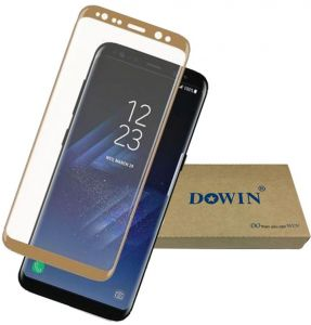 """DOWIN 0.1mm Soft PET 3D Curved Full Cover HD Screen Protector For Samsung Galaxy S8 Protective Guard Film PLUS (6.2"""") -GOLD"""