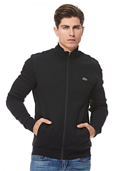 9a211b7c Lacoste Fleece Jacket For Men - Black