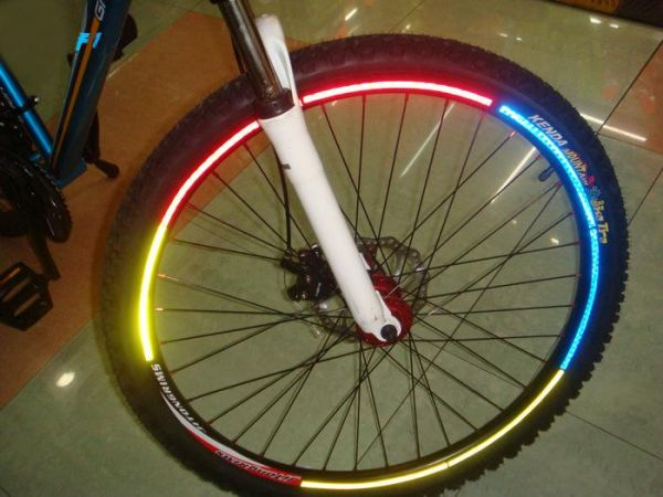 "6piece New Motorcycle Bicycle Reflective Wheel Rim Sticker Tape For 10""-28"" Bike,LODI013"