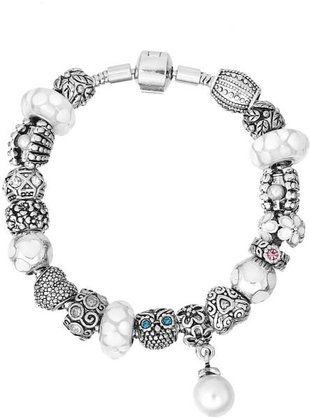 Mestige Mscb3007 Rhodium Plated Serenity Bracelet For Women