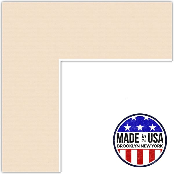 8x24 Beige / French Creme Custom Mat for Picture Frame with 4x20 ...