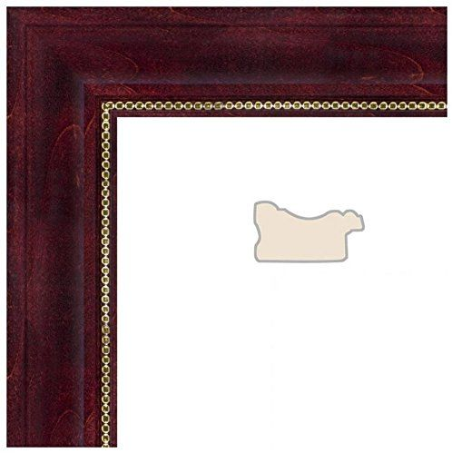 Picture Frame Cherry Stain with Gold Beads .. 1.5\'\' wide 8 x 9\