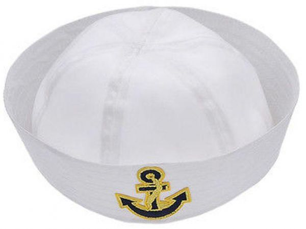 4ecc4efb1cd70 Adults and kids sailor navy boat costume hat cap with Black anchor ...