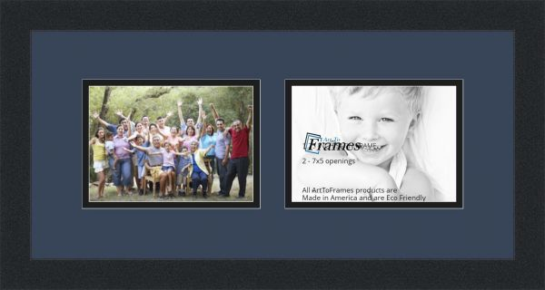 Arttoframes Collage Photo Frame Double Mat With 2 Openings And Satin