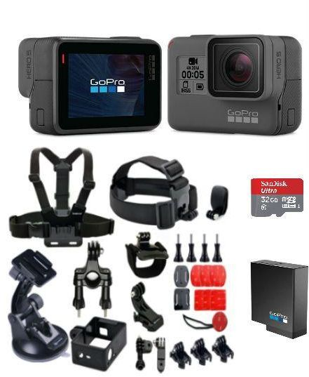 GoPro Hero 6 Black with GoPro Rechargeable Battery for Hero 5 6 and GoPro  Smatree 25 in 1 Accessories Kit  532752a9910e