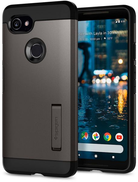 sports shoes 0d7c9 95725 Spigen Google Pixel 2 XL Tough Armor Gun Metal cover / case - Gunmetal
