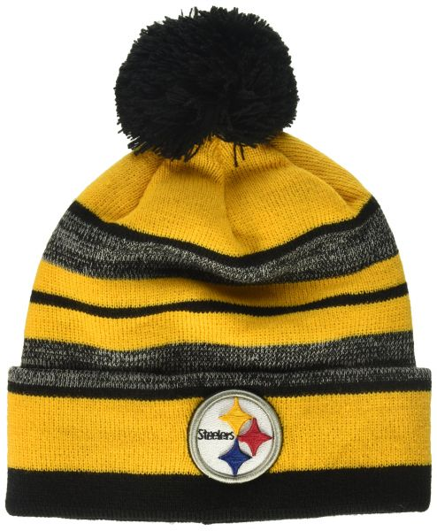 OTS NFL Pittsburgh Steelers Huset Cuff Knit Cap with Pom 001738fdf