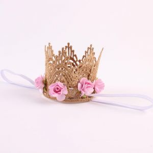 321805a2e31 DIY Baby Girl Kids Toddler Lace Rose Flower Crown party Birthday Headwear  Accessories
