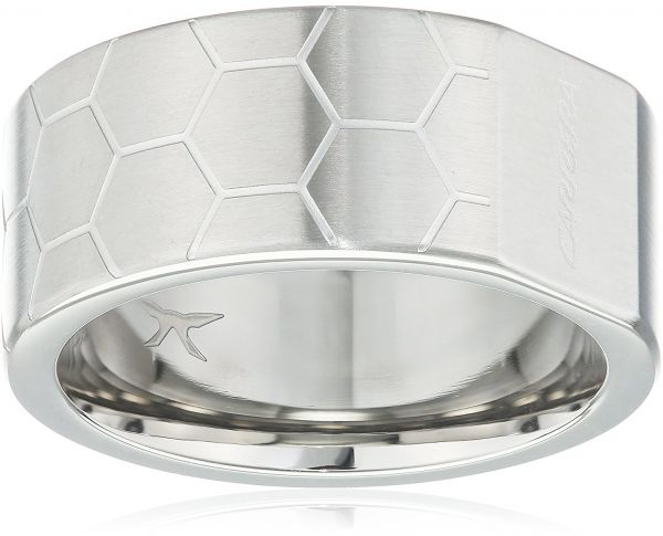 Carrera Unisex Stainless Steel Band Ring - 19