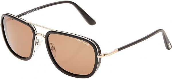 ea462ed12 Tom Ford Riccardo Square Sunglasses for Men - Brown Lens, FT0340-28J ...