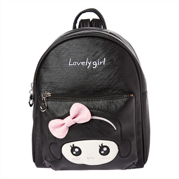 Yuejin 8199-280 Fashion Backpack for Girls - Faux Leather, Black a19a2532da