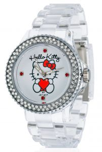 d8fb425ded4bb Hello Kitty Girls s Uto Transparent Without Plastic Analogue watch  JHK9904-17