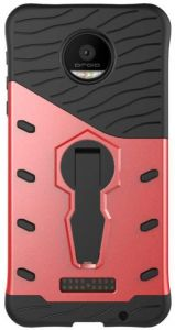 quality design adfa3 76f75 The Moto M back cover with 360-degree rotating bracket, red & black