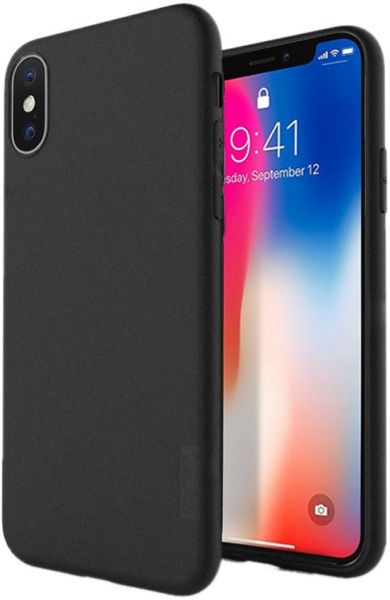 timeless design 4c125 39482 X-level Guardian Series Soft Silicone Case Cover with Screen Protector for  iPhone X in Black