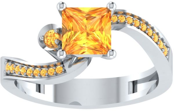 Eternaldia Women s 1.75 Carat Princess Cut Citrine Sterling Swirl ... eda132ab3