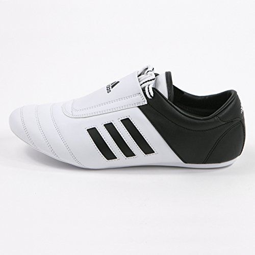 adidas KICK Shoes Martial Arts Sneaker White with Black Stripes ‫(6)