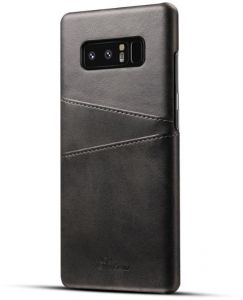 Case Cover for Samsung Galaxy Note 8 (SM-N950) Black Leather