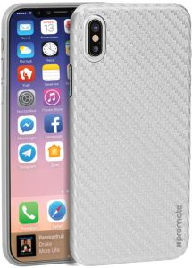 uk availability 4e72c 1c7b7 Promate iPhone X Case, Ultra-Thin Flexible Carbon Fiber Anti-Slip Case with  Scratch Resistance and Shockproof Non-Bulky Protective Case Cover for ...