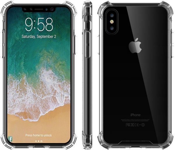 premium selection 0ac35 930a7 iPhone X Case, Clear Slim Hybrid Cover for Apple iPhone X / 10 - Crystal