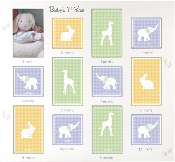 Malden International Designs Baby\'s 1st Year Wall Collage Picture ...