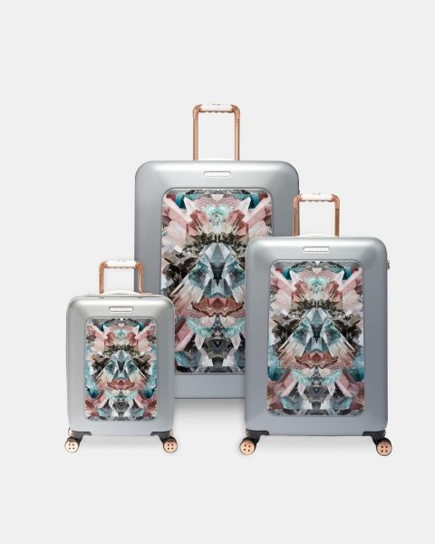 8764ab3893020 Ted Baker Mirrored Minerals Suitcase - Set of 3 (Mid Grey)