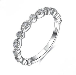 European and American fashion Silver Plated ring