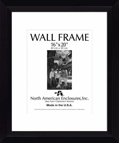 North American Enclosures Single Mat Picture Display Frame 16 by 20 ...
